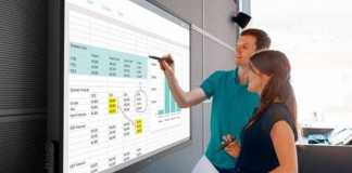 Dell introduces 70-inch HD touchscreen for team collaboration and presentations.