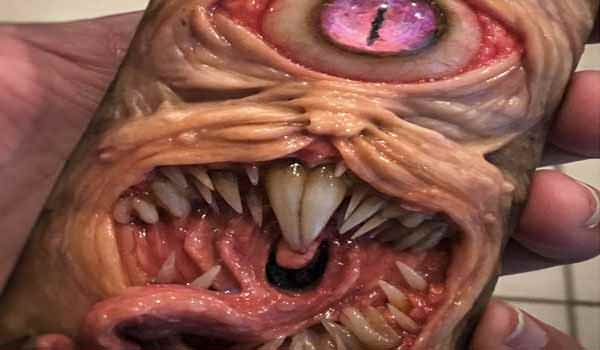 Morgan Loebel creates real life monsters out of iPhones and Android phones.
