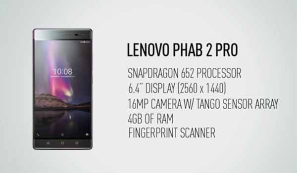 Leveno Phab 2 Pro Specs