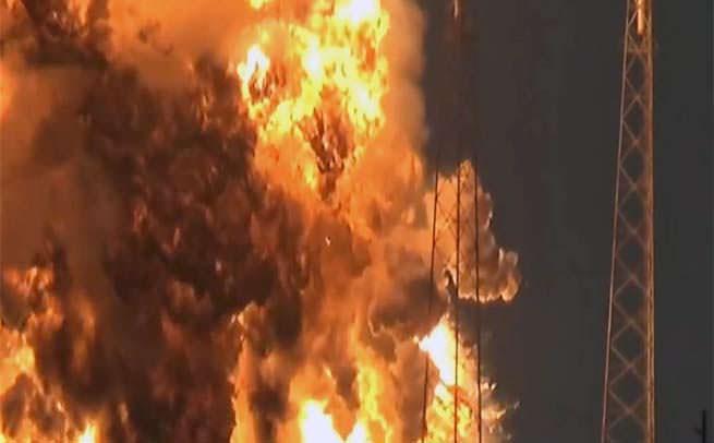 SpaceX Falcon 9 rocket explosion facebook satellite