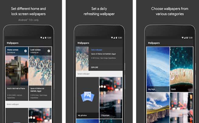 Google Wallpaper app
