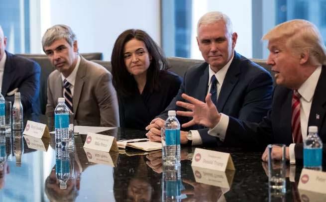 Trump meeting with tech giants
