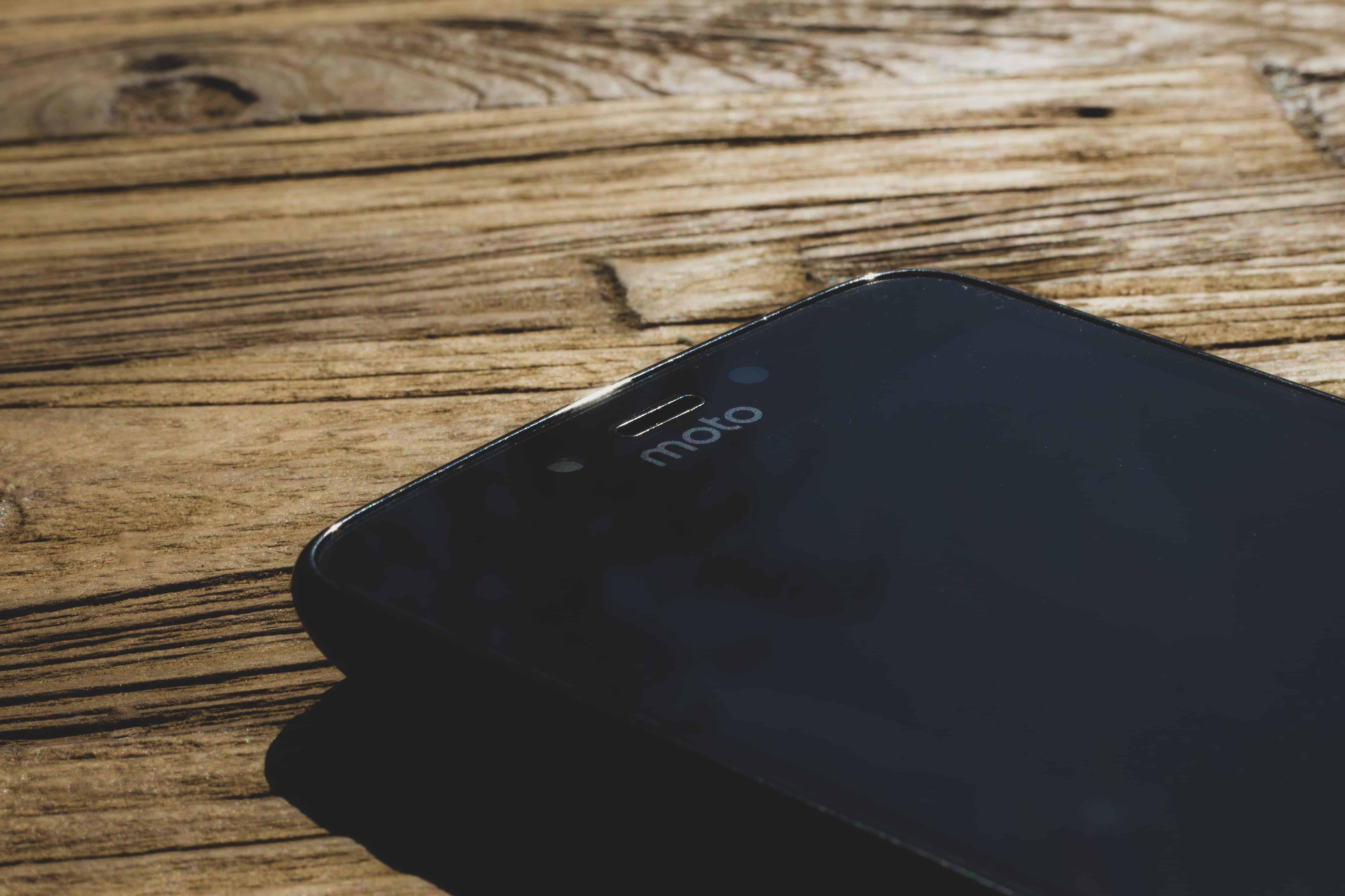 a Motorola Moto phone